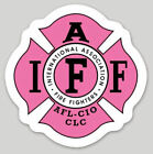 4 Inch Non-Reflective IAFF Pink Firefighter Maltese Sticker Decal