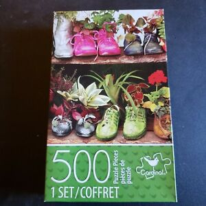 """Jigsaw Puzzle 500pc Shoes with Plants 11""""X14"""" Cardinal  Puzzles"""