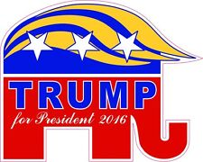 Donald Trump President 2016 GOP NEW Vinyl Decal Sticker Funny