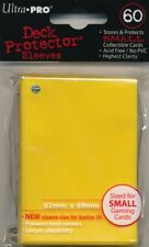 10x PACKS of Yugioh, Small Ultra-Pro YELLOW Card Sleeves 60ct NEW!