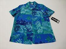 Caribou Womens Size Medium Floral Button Front Shirt New