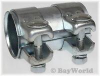 1 St. Auspuff Universal Rohrverbinder 50x 54,5x 90 mm Doppelschelle BMW VW SEAT