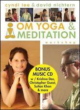 OM YOGA & MEDITATION WORKSHOP . DVD/CD/Booklet - Cyndi Lee/David Nichtern .. NEW