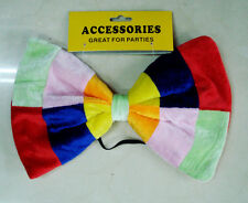 GIANT 30cm BOW TIE, MAD HATTER ALICE IN WONDERLAND STYLE BOOK WEEK FANCY DRESS