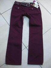 NEW Womens stretch NEXT straight leg purple JEANS UK 8 petite cropped belt