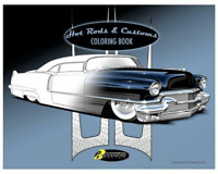 Hot Rods and Customs Adult Coloring Book ~18 Illustrations~ BRAND NEW!