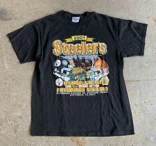 Vintage Pittsburgh Steelers Shirt 2001 Heinz Field Inaugural Game Mens Medium