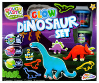 Dough Tastic Glow In The Dark - Dinosaur Play Set Moulds Kids Activity R03-0191