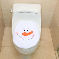 Christmas Santa Snowman Toilet Seat Lid Cover Mat Home Bathroom Decor Elk BL3