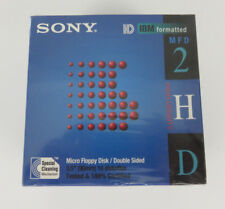 Sony Micro Floppy Disk Double Sided MFD 2HD 3.5 inch 10 Diskettes Sealed In Box
