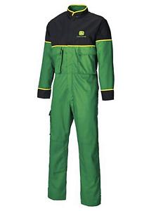 John Deere Adults Deluxe Overalls Coveralls Juniper Green 44R 50R