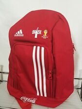 Red adidas backpack Coca Cola 2014 Brazil Fifa World Cup