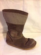Girls Clarks Brown Suede Boots Size 10.5F