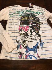 NWT MEN'S Ed Hardy double sleeve T-Shirt Sz 2XL