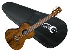 Luna Flamed Acacia Tenor Ukulele w/ Lightweight Case NEW uke