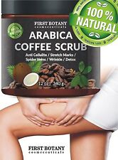 First Botany Organic Arabica Coffee Body Scrub Natural Coconut Shea Butter