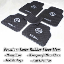 Grey Black Universal Car Floor Mats for Nissan Vehicles Rubber Pathfinder Murano