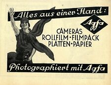 Photographiert mit Agfa Cameras Rollfilm Filmpack Platten Papier Annonce 1930