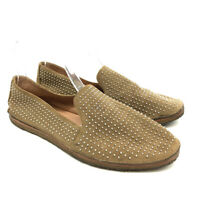 Vince Camuto Signature Alvita Flats 8.5 M Studded Suede Leather Womens Slip On