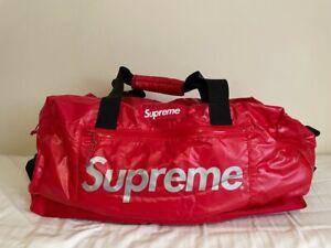Supreme Red Duffle Bag Cordura Logo FW17