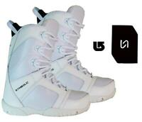 Symbolic Ultra-Lite Snowboard Boots Mens White Size 5 6 7 8 9 Stomp+Burton decal