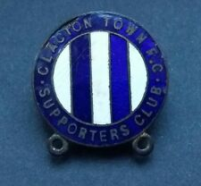 CLACTON TOWN FC SUPPORTERS CLUB BADGE BUTTON HOLE VINTAGE FOOTBALL CLUB