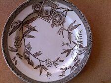 "Wedgewood  Pattern Louise 7.5 "" rare White/Brown plates AESTHETIC TRANSFERWARE"