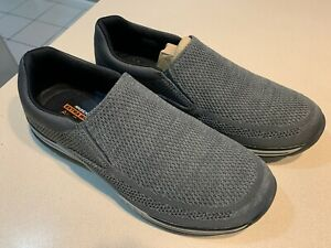SKECHERS Men's Extra Wide Fit Grey Slip On Mesh Shoes Size 13