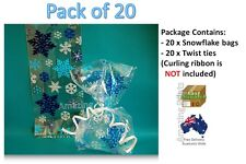 Snowflake gift Bag Disney Frozen Party Birthday favor Supply Loot Cello Xmas 1 2