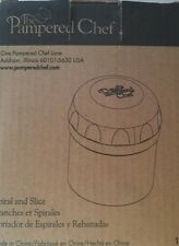 The Pampered Chef Spiral And Slice Vegetable And Fruit Slicer #1136 NEW IN BOX