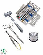 Dental Implant Cirugía osteótomo cóncavas Kit AMALGAMA DOBLE bien hueso Mead CE