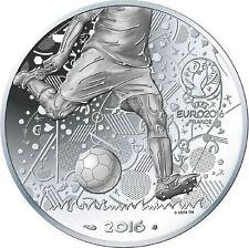 FRANCE 10 Euros Argent Coupe de l'UEFA 2016 UNC Silver coin Football