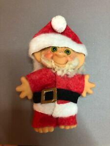 1960's Vintage DAM Troll Doll Santa Claus outfit Green eyes