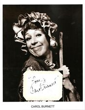 Carol Burnett Autograph Show Once Upon a Mattress The Garry Moore Mad About You