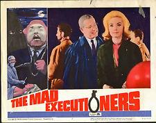 THE MAD EXECUTIONERS lobbycard DIETER BORSCHE/EDGAR WALLACE/KRIMI/MARIA PERSCHY