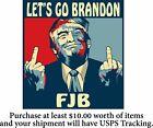 Let's Go Brandon Decal FJB ANTI JOE BIDEN Funny Bumper Sticker Decal 6' x 5.6'