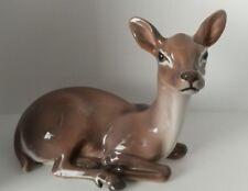 Dahl Jensen Figurine #1147 ~  Deer Doe Lying ~ Animal ~ Royal Copenhagen Denmark