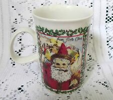 DUNOON MERRY CHRISTMAS STONEWARE MUG~MADE IN ENGLAND W CHRISTMAS WISHES~EX COND