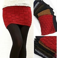 Mini Gonna Donna Maglia Inverno - Thick Woolen Mini Winter Skirts - 130015