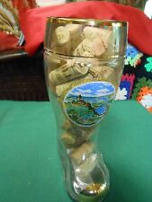 "Great.Collectible ""German"".BEER BOOT Glass ""Cochem a.d. Mosel""& FREE 25  Corks"