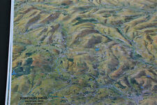 3D Aerial Panoramic Map of the Yorksire Dales No1 Unusual Gift Idea