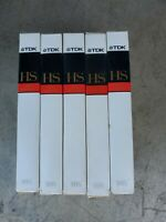 Lot of 6 TDK HS T-120 VHS tapes - as pictured.  Used sold as blank
