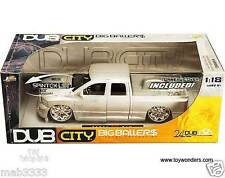 2003 Dodge Ram Pickup truck. 1:18 scale diecast model car. Jada Dub City Silver