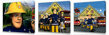 Fireman Sam set of Three Wall / Plaques canvas pictures