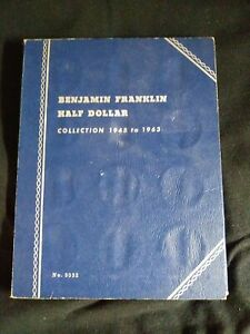 Classic  Whitman Franklin Half Dollar 1948-1963 Used Folder/Album/Book -No Coins