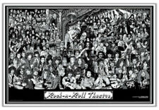 Rock Roll Theatre Poster by Howard Teman 36 X 24