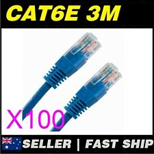 100x 3m Cat 6 Cat6 Blue Network LAN Cable Home NBN ADSL Phone PS4 Xbox TV