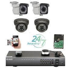 4Ch Nvr 1920P 5Mp 2xDome 2xBullet PoE Ip 66Ir Surveillance Security Camera vg76t