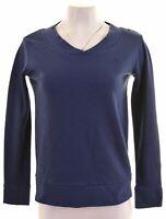 FILA Womens Sweatshirt Jumper Size 10 Small Blue Cotton  FR15
