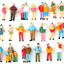 100 Painted Model Train Passenger People Figures HO Scale 1:87 assorted poses